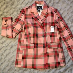 Women's Pink Plaid Blazer by Say What